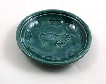 CELTIC KNOT  Offering Bowl Handmade Stoneware Pottery