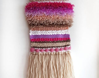 Woven Wall Hanging, Wall Art, Weaving, Tissage, Tapestry