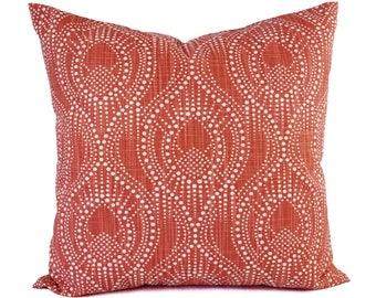 Two Red Pillow Covers - Geometric Pillow Sham - Red Throw Pillow - Red Decorative Pillow - Red Pillowcase - Red Pillow Sham - Custom Pillow