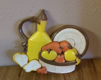On Sale Syroco Yellow Lemon Fruit Bowl and Orange Flowers Wall Hanging/Home Decor