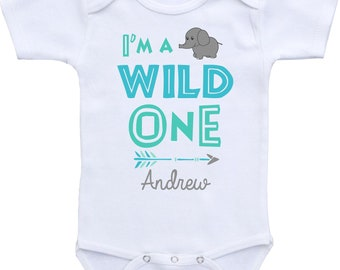 wild one shirt one shirt boy one baby boy shirt one baby shirt one onesie boy one onesie teal one year old boy one year old gift or outfit