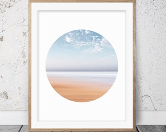 Ocean print, Ocean art, Ocean photography, Beach decor, Ocean wall art, Ocean decor, Sea print, Circle Print, Circle art, Printable art, 030