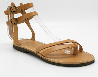Greek sandals, size 39 US 8-8.5  Leather sandals! Greek leather sandals, women's sandals,nu-pieds, sandales femme sandales grecques 39
