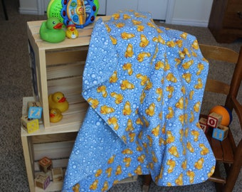 Rubber Duckies and Bubbles Baby Receiving Blanket