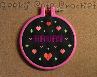 Kawaii Finished Cross Stitch Small Japanese Anime Cute