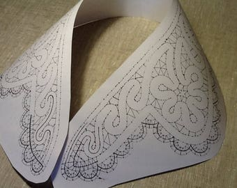 Bobbin lace Pattern Collar Lacemaking pattern Womens accesory Full size