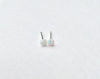 Opal earrings, white fire opal earrings, opal studs, 925 silver opal earrings, 925 sterling silver opal earrings, bridal earrings