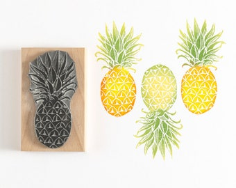 Pineapple Rubber Stamp, fruit stamp, pineapple stamp, rubber stamp, art stamp, gift for her, craft stamp, summer stamp