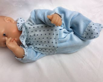 Doll Pajama fabric velvet garment / Frou Frou