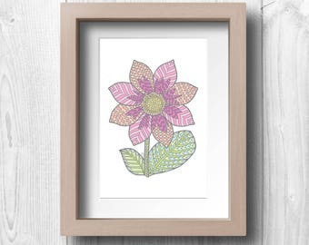 Dahlia Flower - Printable Wall Art