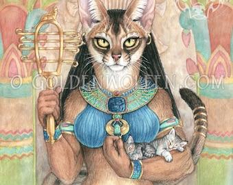Bastet Egyptian Cat Goddess Print