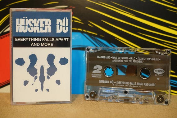Everything Falls Apart And More by Hüsker Dü Vintage Cassette Tape