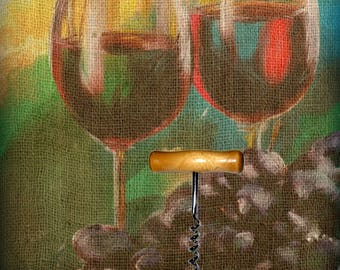 Wine art and Corkscrew 2