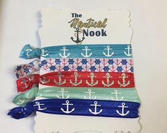 Nautical Hair Ties