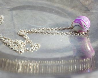 Silver Bead Necklace Crystal  Bead Necklace Choker Dainty Bead Necklace Flower Girl Gift Bridesmaid Gift