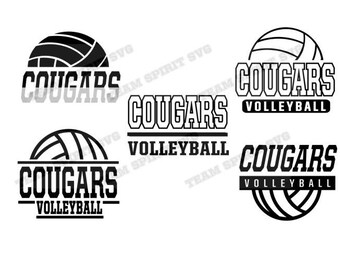 Cougars Volleyball Pack Download Files - SVG, DXF, EPS, Silhouette Studio, Vinyl Cut Digital Cut Files -Use with Cricut and Silhouette