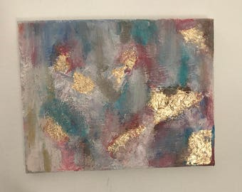 Real gold leaf oil painting