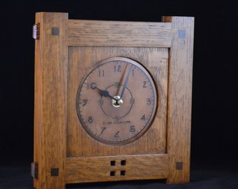 Craftsman II Small   Mission Style Wall Clock