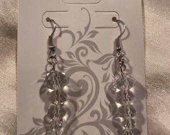 Drop Crystal icicle earrings
