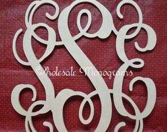 "18"" inch Wooden Monogram Letters- UNPAINTED- Wedding Decor- Home Decor"