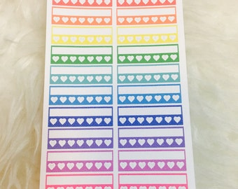 Blank Weekly Habit Tracking Stickers | Erin Condren & Plum Paper Planner