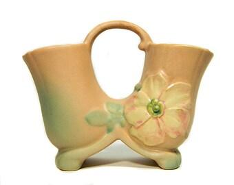 Weller Pottery Wild Rose Double Vase