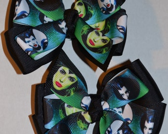 Set of Two Maleficent Hair Bows
