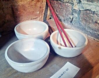 Dipping bowls in sets of 3 ***ONLY BLACK SET left**