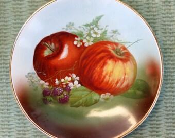 Vintage Hand Painted Apple Plate