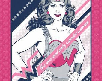 "Wonder Woman panel by Camelot Fabrics - 36"" x 44"""