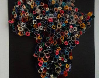 Africa rolled  paper wall art