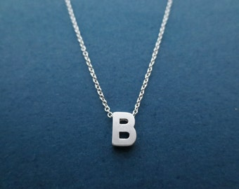 Personalized, Initial, Capital letter, Silver, Necklace, Birthday, Lovers, Best friends, Sister, Gift, Jewelry