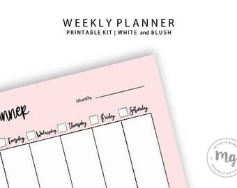 Weekly Planner | Week planner from Monday to Sunday, printable weekly planner, weekly list, planner
