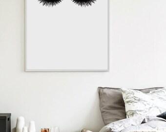 "Lashes - Scandinavian Print - Bedroom Print - Home Poster - Minimalist Poster - Affiche Scandinave 18x24"",11x14"",8x10"",50x70cm,70x100cm"