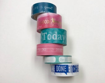 Washi tape 6 pack 5 yards each Planner Word Mix