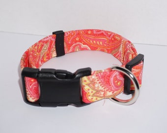 Orange paisley collar