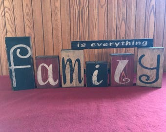 Family Is Everything Block Set