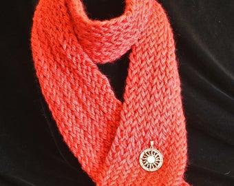 SunShine Hand Knit Scarf