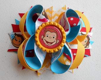 Curious George Boutique Stacked Hair Bow