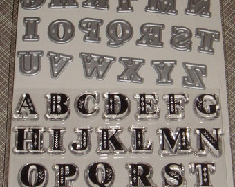 Art C Stamp and Cut- Clear Stamps and Dies *Alphabets* 52 pieces