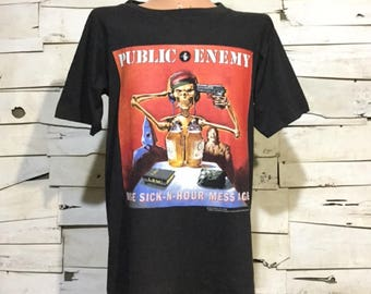 Vintage T-Shirt Public Enemy 1994 Muse Sick-N-Hour Mess Age (ps-ts-94)