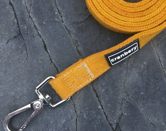 Natural Hemp Dog Lead. Organic eco friendly yellow dog leash