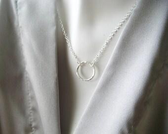Choose Love Necklace Sterling Silver Good Karma Zen Yoga Jewelry Meditation Jewelry Minimalist Jewelry Gift for Friend Gifts Under 40