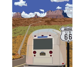 "Route 66, 16""x 20"" limited edition archival Giclee print"