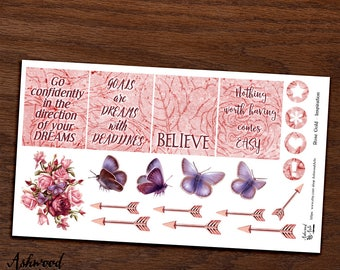 Rose Gold Erin Condren Planner Stickers Weekly Kit