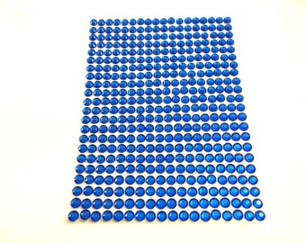 Royal Blue Self-Adhesive Stick-On Gems/Rhinestones/Jewels/Acrylic Gems/Bling | 4mm | 396 Count | Craft Supplies | ShimmerWorks