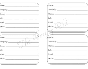 PRINTED Address Book Traveler's Notebook / Fauxdori Insert-