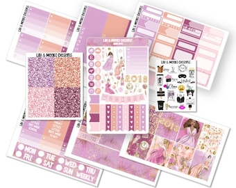 Glam NYE | Deluxe Planner Sticker Kit | New Years Eve | for use in erin condren vertical life planner