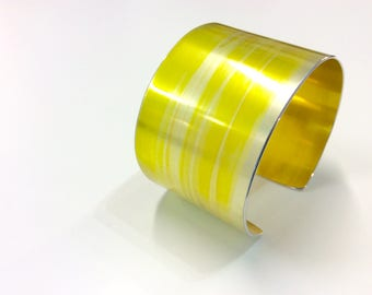 Tulip Yellow 40 mm Anodised Aluminium Cuff