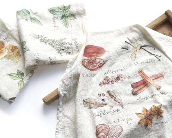 Set of 3 Tea Towels Flour Sack Towel Fall Tea Towel Set